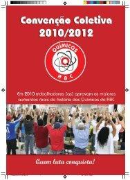 Download Convenção Coletiva 2010/2012 - Setor Químico