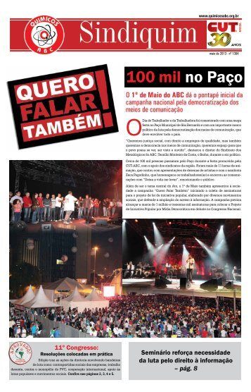 Download Sindiquim 1304 maio/2013 - Sindicato dos Químicos do ...