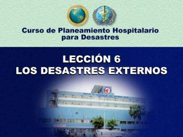 lección 6 los desastres externos lección 6 los desastres externos