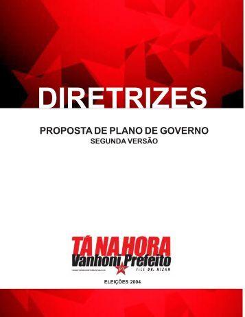 Diretrizes de Plano de Governo - WordPress.com