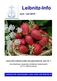 Leibnitz-Info Juni - Juli 2015