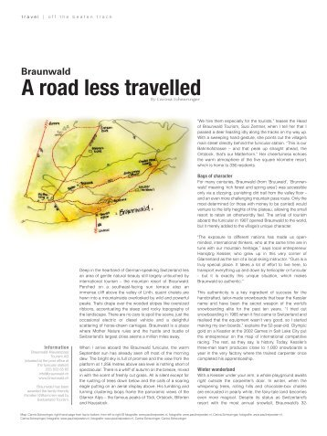 A road less travelled - Ahorn Braunwald
