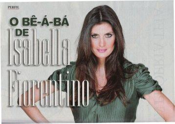 O bê-a-bá de Isabella Fiorentino Revista Veja 22 Abril 2009 - OPEE