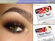 Excellent stunning False Eyelashes at Madame Madeline