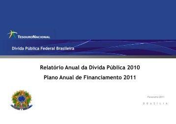 Plano Anual de Financiamento – PAF - Tesouro Nacional