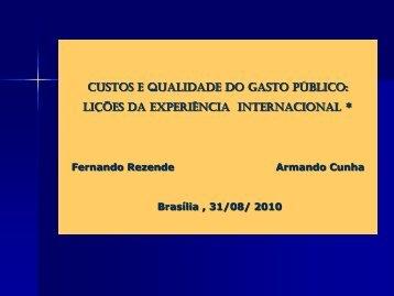 Palestra - Fernando Rezende e Armando Cunha