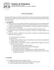 Edital 2012 - 2º Semestre - IPUB - UFRJ
