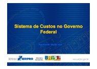 Sistema de Custos no Governo Federal
