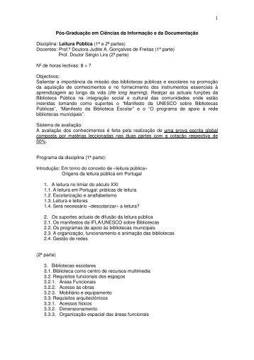 Programa - Universidade Fernando Pessoa