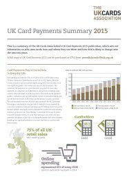 UK Card Payments 2015 Summary
