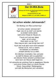 der Vorstand informiert - Verein der Briefmarkensammler Dinslaken ...