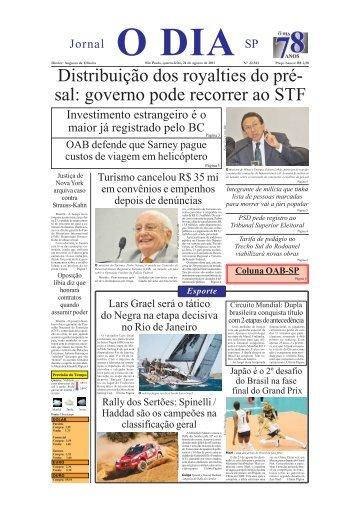 Distribuição dos royalties do pré- sal: governo pode recorrer ao STF