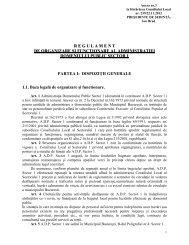 regulament de organizare şi funcţionare al administraţiei domeniului ...