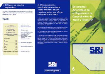 c) El tic¡uete de máquina registradora: - Servicio de Rentas Internas