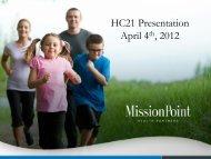 HC21 Presentation April 4th, 2012