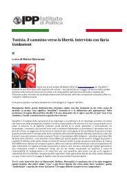 Tunisia, il cammino verso la libertà. Intervista con Ilaria Guidantoni