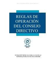 REGLAS DE OPERACIÓN DEL CONSEJO DIRECTIVO - Funsalud