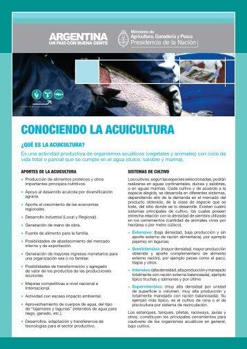 Ficha institucional CONOCIENDO LA ACUICULTURA