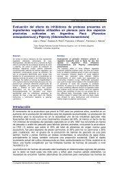 Evaluacion del efecto de inhibidores de proteasa