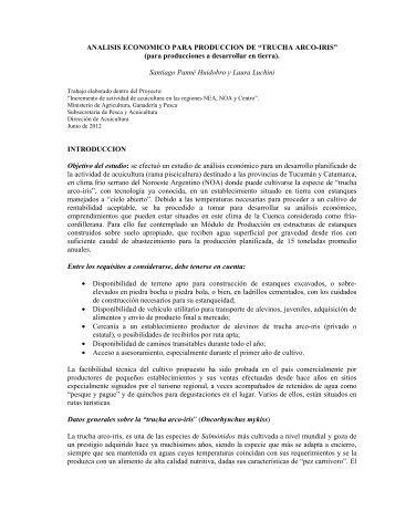 analisis economico para produccion de trucha - Ministerio de ...