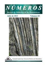 Revista de Didáctica de las Matemáticas Julio de 2013 Volumen 83