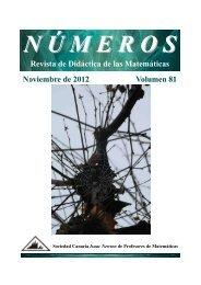 Revista de Didáctica de las Matemáticas Noviembre de 2012 ...