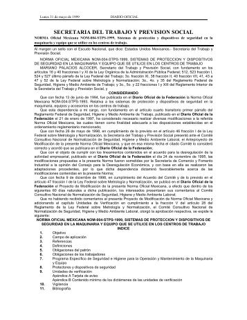 Nom 004 STPS 1999 - Normas Oficiales Mexicanas de Seguridad y ...