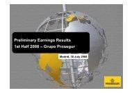 Results Presentation Second Quarter 2008 - Prosegur