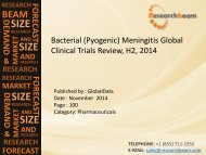 Bacterial (Pyogenic) Meningitis Global Clinical Trials Review, H2, 2014: Market Growth, Commercial Landscape, Analysis: ResearchBeam