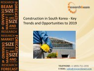 Construction in South Korea - Key Trends, Market Share, Analysis, Information, Insights and Opportunities to 2019