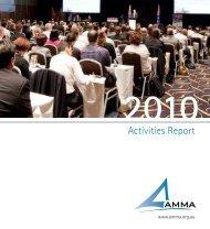 Activities Report - AMMA