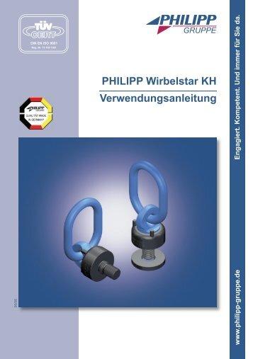 PHILIPP Wirbelstar KH Verwendungsanleitung - PHILIPP Gruppe