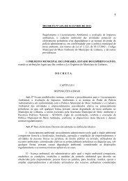 Decreto de Regulamentação do Licenciamento Ambiental - Linhares