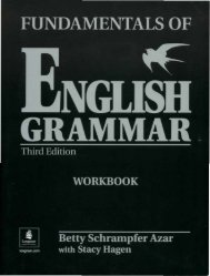 Azar. Fundamentals of English Grammar, 3-Ed Workbook ... - Fort/Da