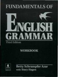 Azar. Fundamentals of English Grammar, 3-Ed Workbook ... - Fort/Da