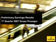 Results Presentation First Quarter 2007 - Prosegur