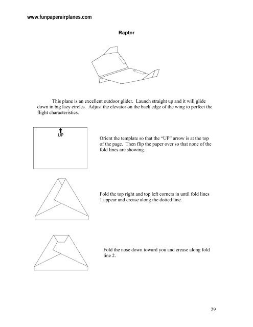 Raptor Sample.pdf - Fun Paper Airplanes