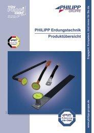 PHILIPP Erdungstechnik Produktübersicht - PHILIPP Gruppe