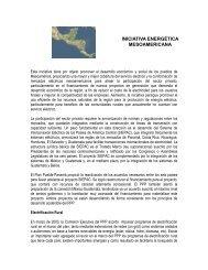 iniciativa energética mesoamericana - Universidad de Costa Rica