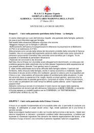 Sintesi dei lavori di gruppo 5 - Masci Liguria
