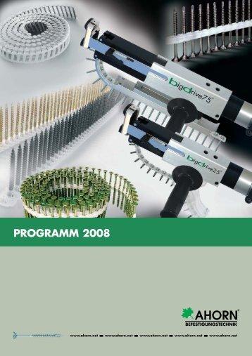 Lieferprogramm 2008 - Ahorn Befestigungstechnik