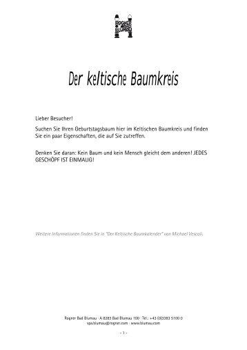 Der keltische Baumkreis - Rogner Bad Blumau