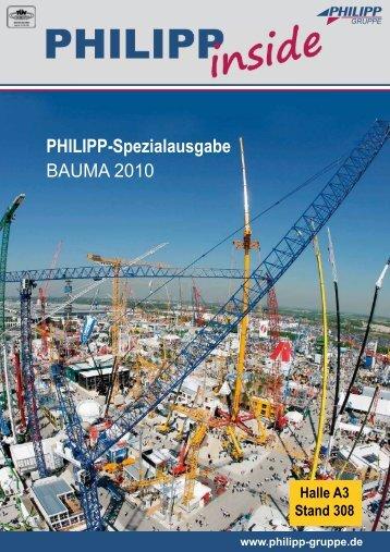 "PHILIPP inside ""bauma 2010"" - PHILIPP Gruppe"