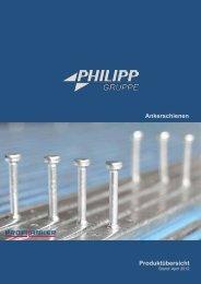 Ankerschienen Produktübersicht - PHILIPP Gruppe