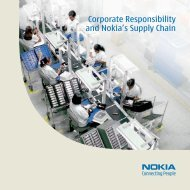 Corporate Responsibility and Nokia's Supply Chain