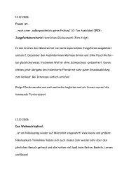 """12.12.2008 Franzi ist… … nach einer """"außergewöhnlich ... - Milarsholt"""