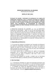 processo seletivo dt cadastro reserva - Linhares