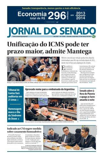 Unificação do ICMS pode ter prazo maior, admite ... - Senado Federal