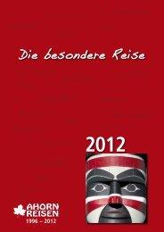 die besondere reise 2012 - Ahorn Reisen GmbH