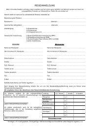 REISEANMELDUNG - Ahorn Reisen GmbH